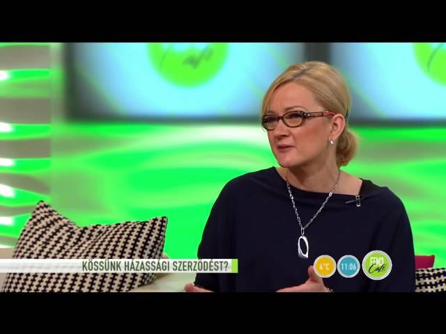 A szakértő válaszol: kössünk házassági szerződést? - 2015.11.02. - tv2.hu/fem3cafe