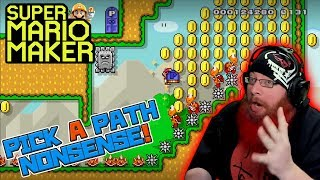 PICK A PATH NONSENSE! - Super Mario Maker - Super Expert with Oshikorosu