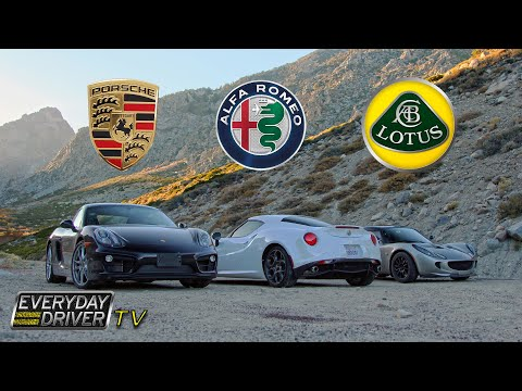 4C, Cayman, & Elise on California's best roads - Affordable