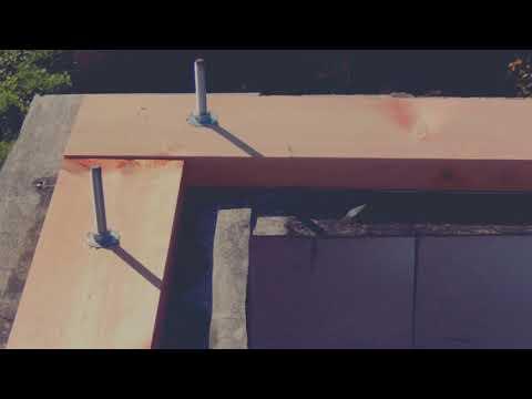 Мауэрлат. Мауэрлатный брус. Постройка вальмовой мансардной крыши.  Возведение крыши. Начало.