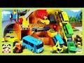 Tayo heavy equipment playset!! remicon excavator truck tower crane minibus Tayo 타요 중장비놀이 Borami Toys