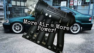 Skunk2 Pro Series Intake Manifold and Alpha 70mm TB for D15 / D16 Install Review And Before - After