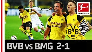 Borussia Dortmund vs. Borussia Mönchengladbach I 2-1 I Götze Assists for Sancho & Reus