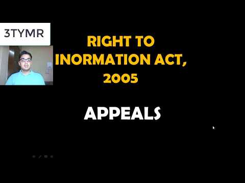APPEALS - UNDER RIGHT TO INFORMATION ACT