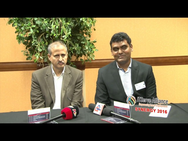 Sridhar Patibandla, CEO of KASTECH Software solutions introducing himself to the media