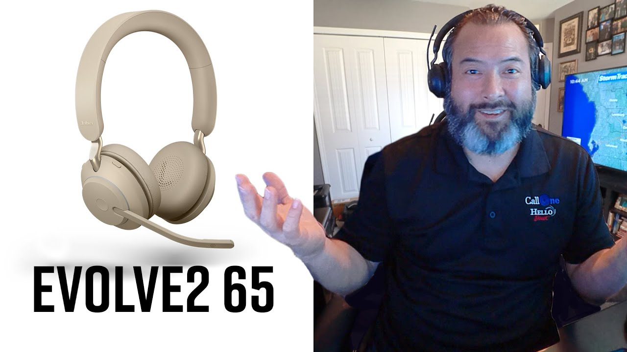 Jabra Evolve2 65 Wireless Headset Hands On Mic Test Youtube