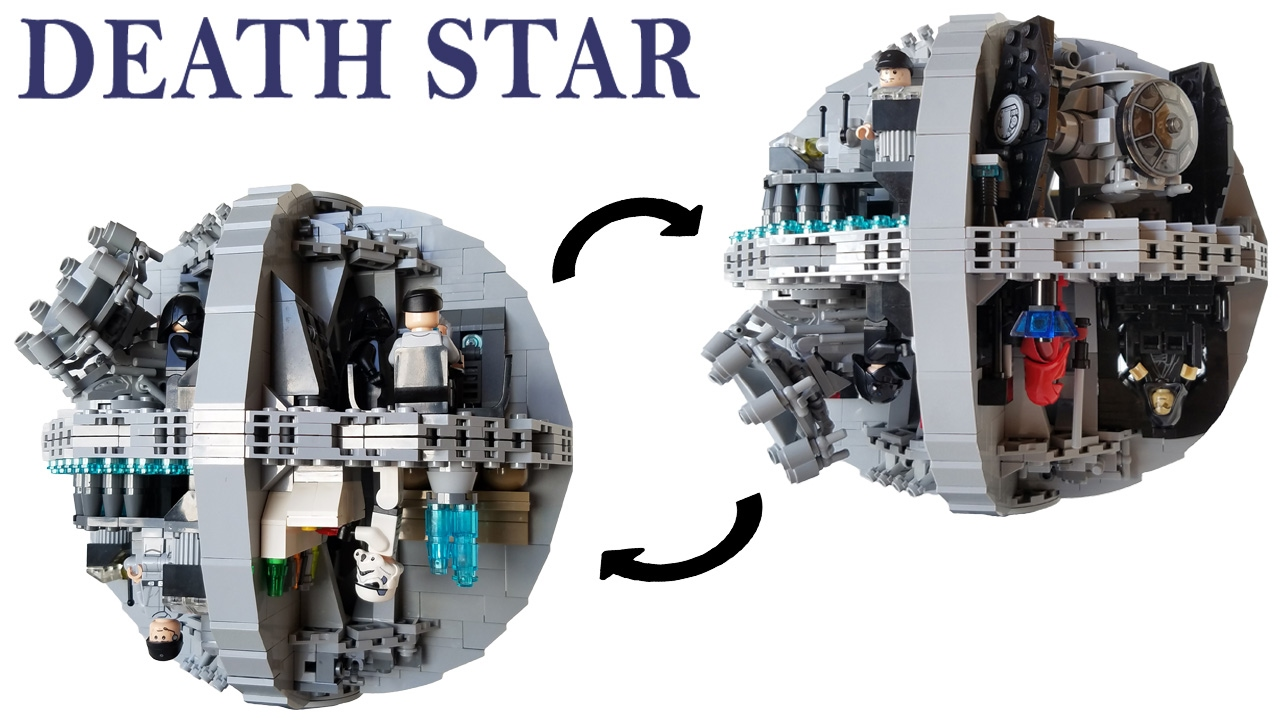 Custom Lego Star Wars Death Star Moc Building Instructions