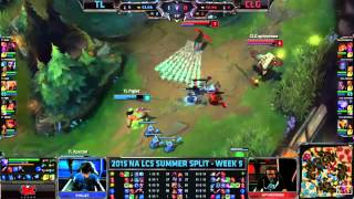 Xpecial Last Second Flash - TL vs. CLG - NALCS Summer Week 5 Day 1
