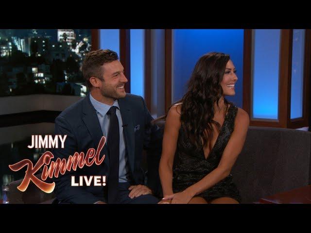 Jimmy Kimmel Interviews Bachelorette Becca & Fiancé Garrett