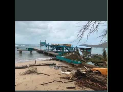 Hurricane Irma Damaged The British Virgin Island(Virgin Gorda)