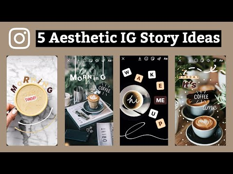 5 Ways To Edit Your Instagram Stories - Coffee Photo | Using ONLY The IG App