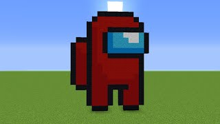 Minecraft Pixel Art Among Us Tutorial Youtube