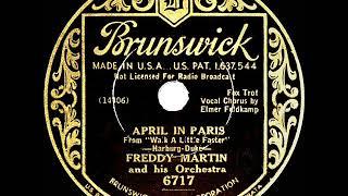 1934 HITS ARCHIVE: April In Paris - Freddy Martin (Elmer Feldkamp, vocal)
