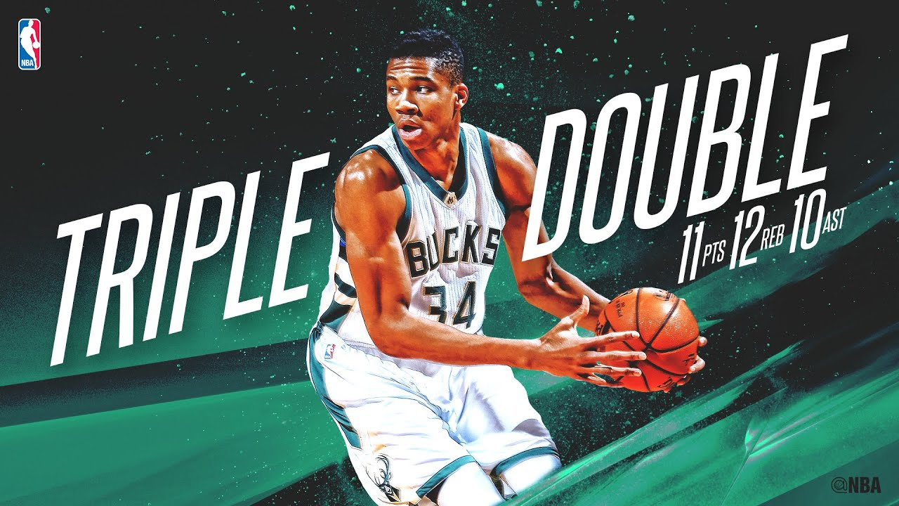 Giannis Antetokounmpo Records First Career Triple-Double