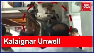 Video Of Karunanidhi Taken Out On A Stretcher While Shifting To Hospital