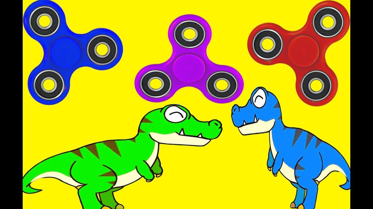 fidget spinner dinosaurs dinosaur triceratops t rex colors