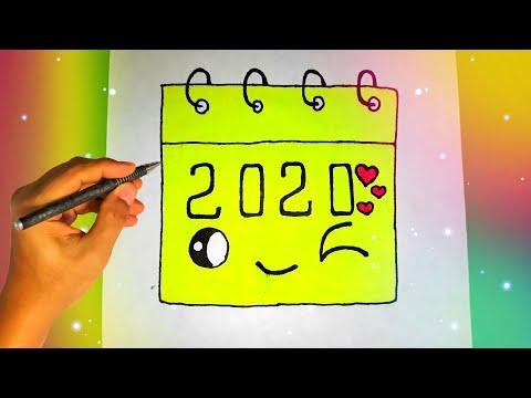 Как нарисовать КАЛЕНДАРЬ 2020 ГОДА? Лёгкие рисунки для срисовки