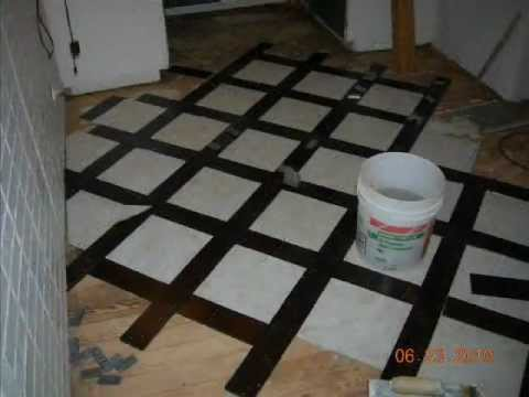 Mz Handyman Woodtile Kitchen Floor Youtube