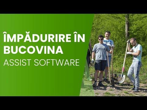 Campanie de împădurire cu voluntarii ASSIST Software la Ocolul Silvic Pătrăuți (Romsilva) Suceava