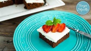 Шоколадный Пирог с Творожным Кремом и Клубникой | Chocolate Strawberry Cake | Tanya Shpilko