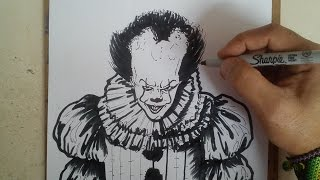 COMO DIBUJAR A IT ESO - PENNYWISE / how to draw it eso - pennywise