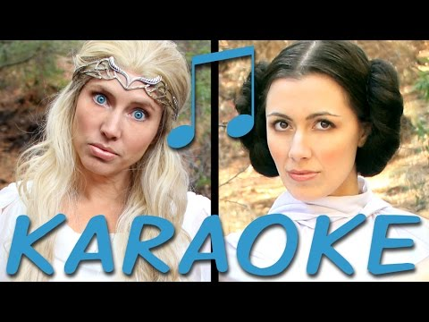 GALADRIEL vs LEIA Karaoke (Princess Rap Battle) Instrumental Sing-along