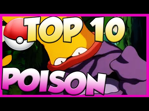 Top 10 Best Poison Type Pokemon! Poison Type Pokemon Facts, Stats, and Trivia!