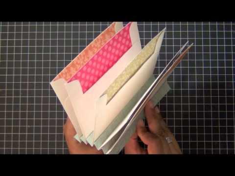 SAF 2012Envelope Mini Book TutorialYouTube