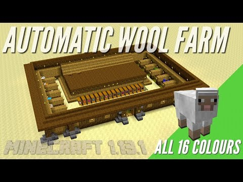 How To Make An Automatic Wool Farm In Minecraft With Item Sorter | Minecraft Tutorial With Avomance
