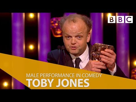 Toby Jones wins Best Male Performance in a Comedy  The British Academy Television Awards 2018