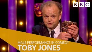 Toby Jones wins Best Male Performance in a Comedy - The British Academy Television Awards 2018