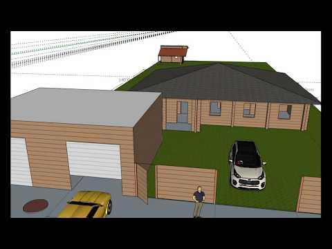 Бытовка #2 Рисуем в Sketchup проект дома и участка. Осенний выполз.