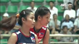 HD [5-8  Semifinal]Philippines vs Kazakhstan:Asian Women's Club Volleyball Championship 2015