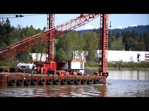 Sea Imp VIII towing pile driving barge