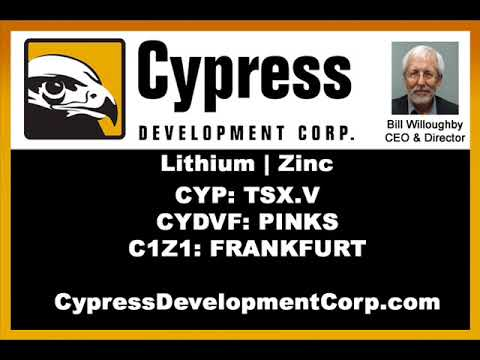 CEO Dr. Willoughby Discusses Drill Results From Nevada Lithium Project. (CYP:TSX.V) - Dec. 5, 2017