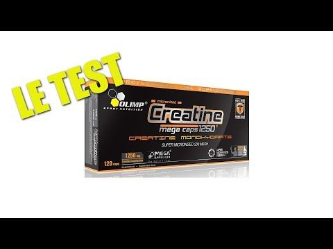 Test complement alimentaire : CREATINE MEGA CAPS d' Olimp sport nutrition