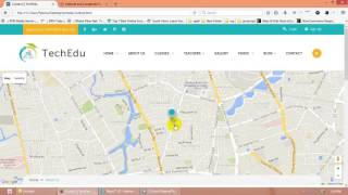 How to change map location in Techedu  Education Bootstrap Template Free HD Video