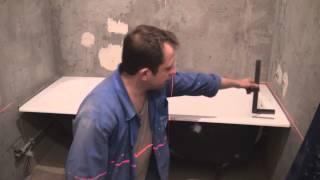 Установка ванной. Разметка лазерным уровнем.(Главный элемент ванной комнаты - это чаша. От ее правильной горизонтальной установки зависит ровность укла..., 2013-12-13T06:15:17.000Z)