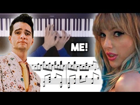 Taylor Swift - ME! feat. Brendon Urie Advanced Piano Cover with Sheet Music thumbnail