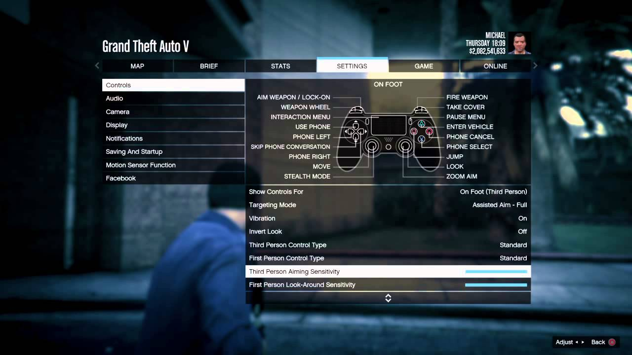 how to change your aim on gta 5 online