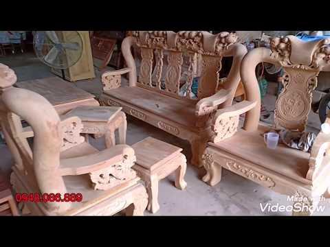 Báo giá bộ bàn ghế salon minh đào gỗ gõ đỏ tay 12. GIÁ CỰC RẺ