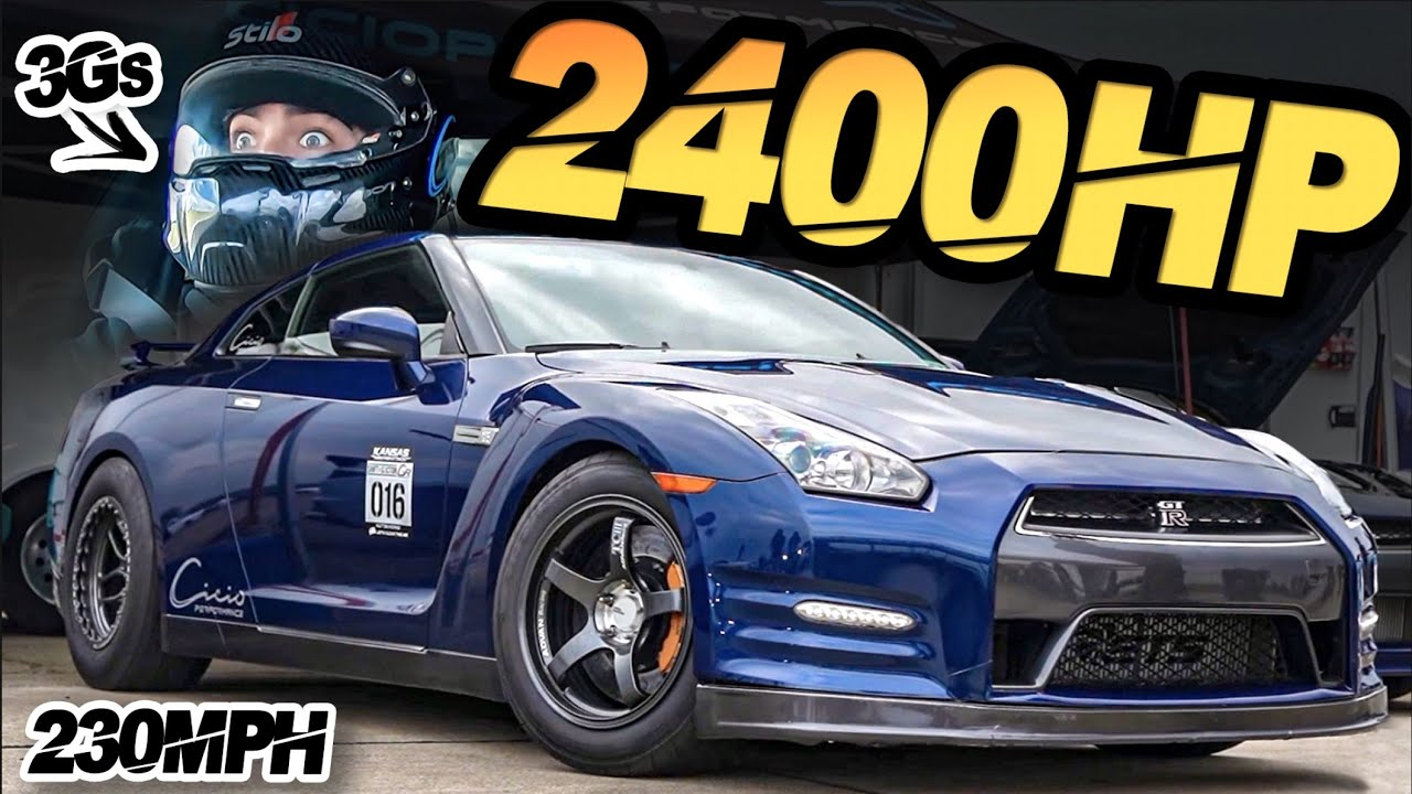 2400HP GTR 230MPH Ride-Along pulls 3G's + 500HP Turbo Hayabusa (Mind Blowing Acceleration!)
