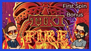 FIRST SPIN BONUS on TIKI FIRE Saves Our Night! Gil Picked the RIGHT BET - Palm Springs Spinners