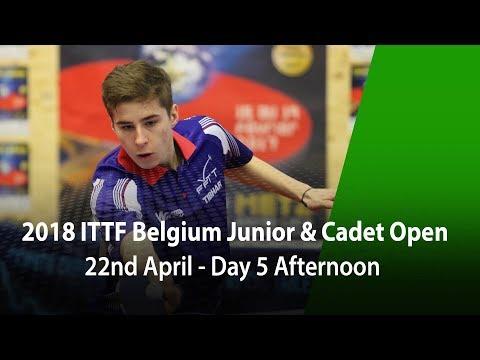 2018 Belgium Junior & Cadet Open - Day 5 Afternoon