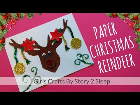 Arts and Crafts for Kids! Paper Christmas Reindeer by Story 2 Sleep