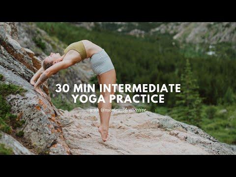 30-Minute Intermediate Yoga Class with Nicole Wild