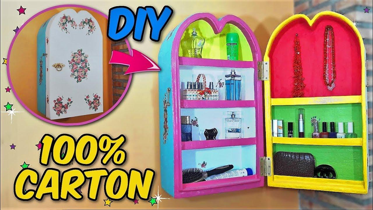 Diy organizador hecho con una caja de cart n manualidades - Hacer manualidades en casa ...