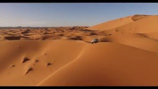Desert drone flight! Morocco 4x4 adventure 2016