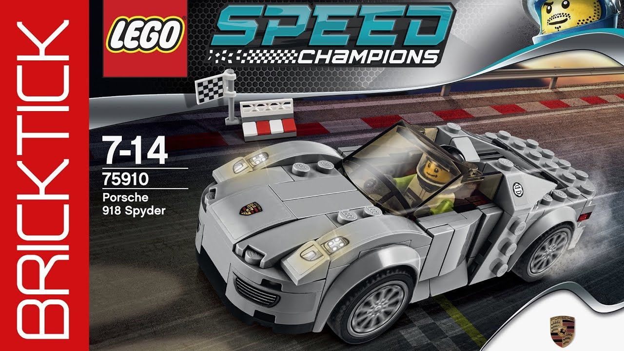 lego speed champions porsche 918 spyder 75910 timelaps let 39 s build deutsch youtube. Black Bedroom Furniture Sets. Home Design Ideas