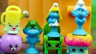 Stikeez Smerfy • Ogród Smerfetki • Shopkins • Bajki dla dzieci